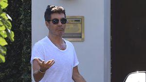 Hier hat sich Simon Cowell aus seiner Villa ausgesperrt