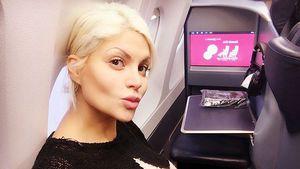 Sophia Wollersheim im Flugzeug