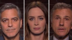 Emily Blunt, George Clooney, Eddie Redmayne und Jimmy Kimmel