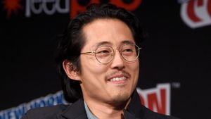 "Steven Yeun bei der ""Comi Con"" in New York"