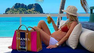 Im Luxusurlaub: Ronan Keatings Frau schiebt 'ne ruhige Kugel
