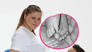 Mit Baby-Füßchen: Sylvana Wollny bedankt sich nach Geburt