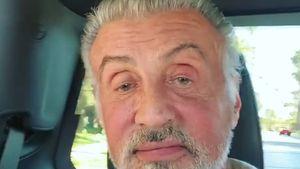Sylvester Stallone zeigt erstmals ungefärbte graue Haare!