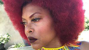 "Neuer Look: ""Empire""-Star Taraji P. Henson mit rotem Afro"