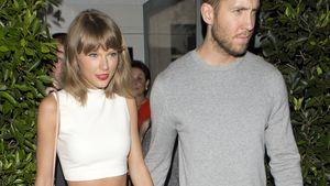 Taylor Swift und Calvin Harris Hand in Hand