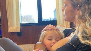 Intimes Bild: Teresa Palmer stillt ihre Tochter (21 Monate)