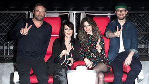 """Die Jury von """"The Voice Kids"""" 2017, Sasha, Nena, Larissa und Mark Forster"""