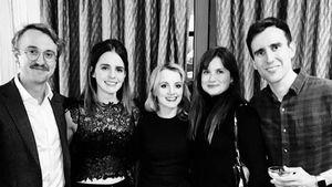 "Weihnachtsreunion: Emma Watson grüßt mit ""Harry Potter""-Cast"