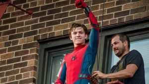 "Tom Holland bei Dreharbeiten zum Film ""Spider-Man: Homecoming"" in New York"