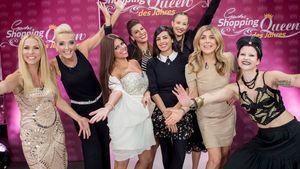 """V.l.: Sonya, Collien, Alessandra und Panagiota mit """"Shopping Queen""""-Kandidatinnen"""