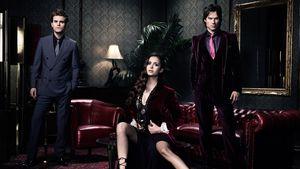 "Paul Wesley, Nina Dobrev und Ian Somerhalder in ""Vampire Diaries"""