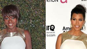 Kourtney Kardashian und Viola Davis