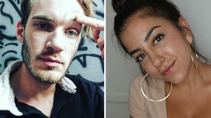 YouTube-Stars PewDiePie und LenaThePlug