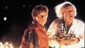 """Michael J. Fox und Christopher Lloyd in """"Zurück in die Zukunft"""""""