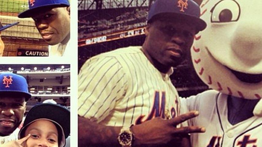 Astreine Blamage: 50 Cent versagt beim Baseball!