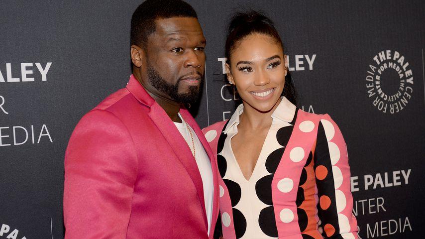 50 Cent mit seiner Freundin Jamira Haines im Februar