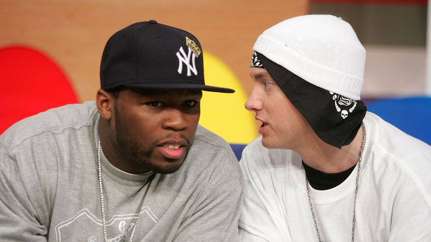 Rapper 50 Cent und Eminem, New York 2006