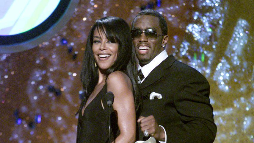 Aaliyah und P. Diddy bei den MTV Movie Awards 2001