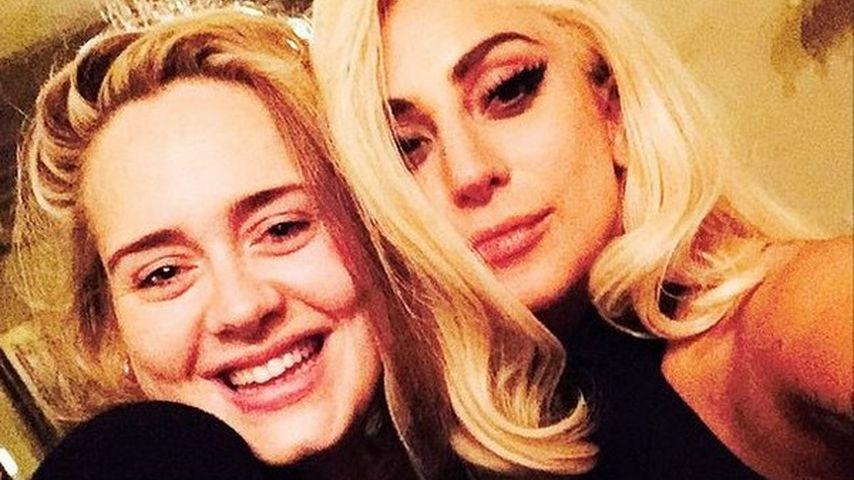 Adele & Lady GaGa: Ungleiche Selfie-Schwestern