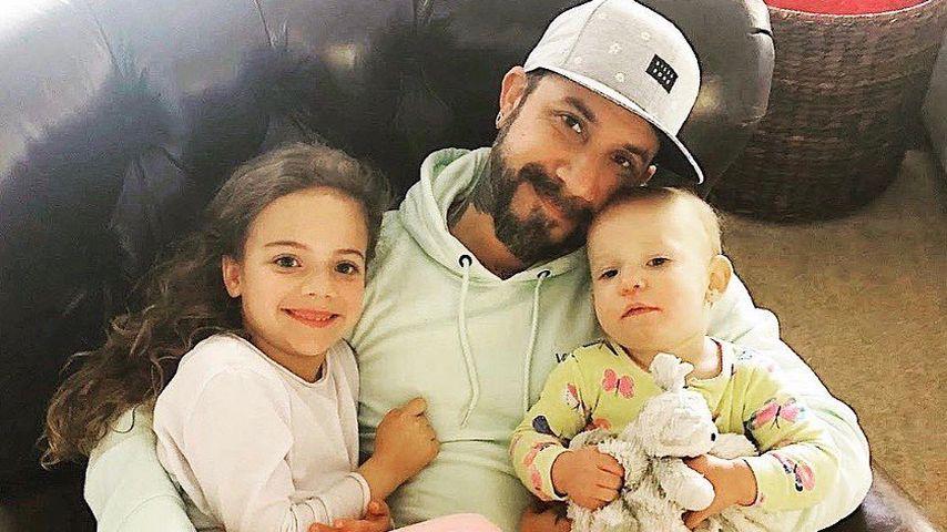 AJ McLean mit seinen Töchtern Ava und Lyric im September 2020