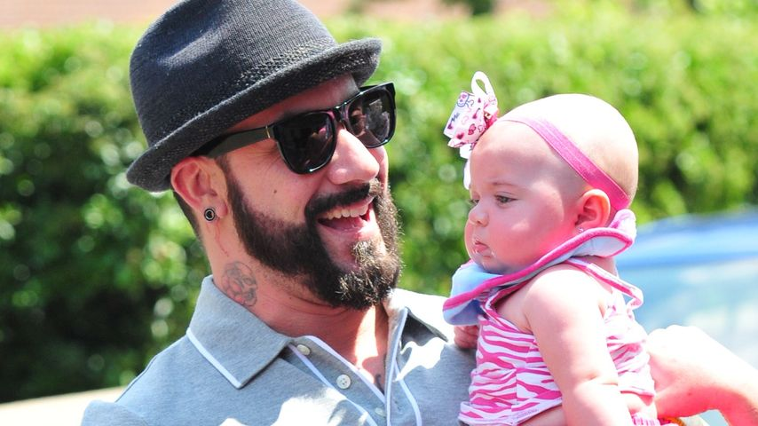 Süße Bilder: AJ McLean und sein Töchterchen Ava