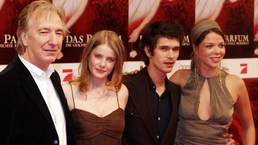 """Alan Rickman, Rachel Hurd-Wood, Ben Whishaw und Jessica Schwarz bei der Premiere von """"Das Parfum"""""""