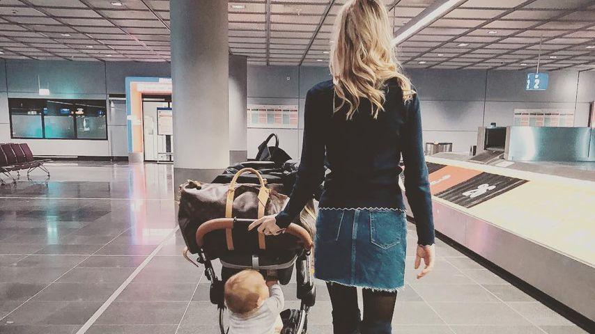 Alena Fritz mit ihrer Tochter, Oktober 2018