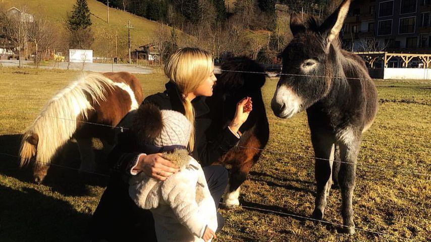 Alena Fritz und ihre Tochter in Österreich