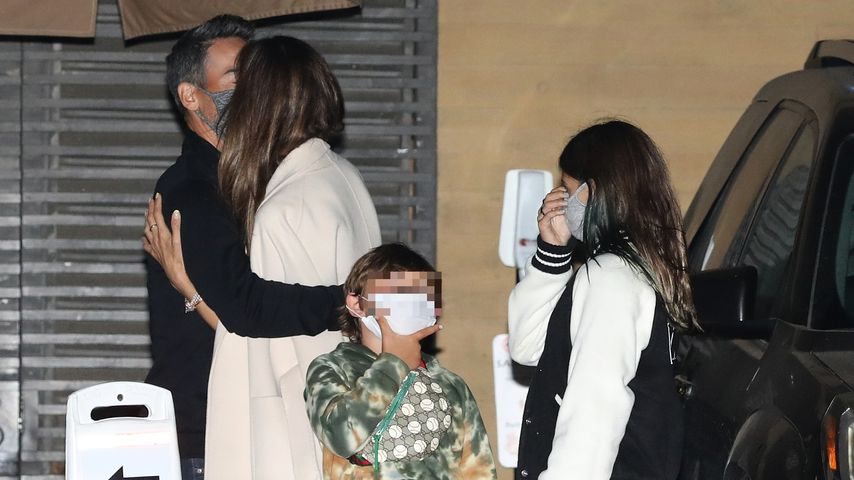 Alessandra Ambrosio mit ihrem Freund Richard Lee und ihren Kindern