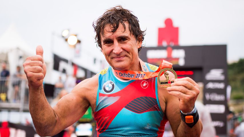 Alessandro Zanardi beim Ironman in Calella
