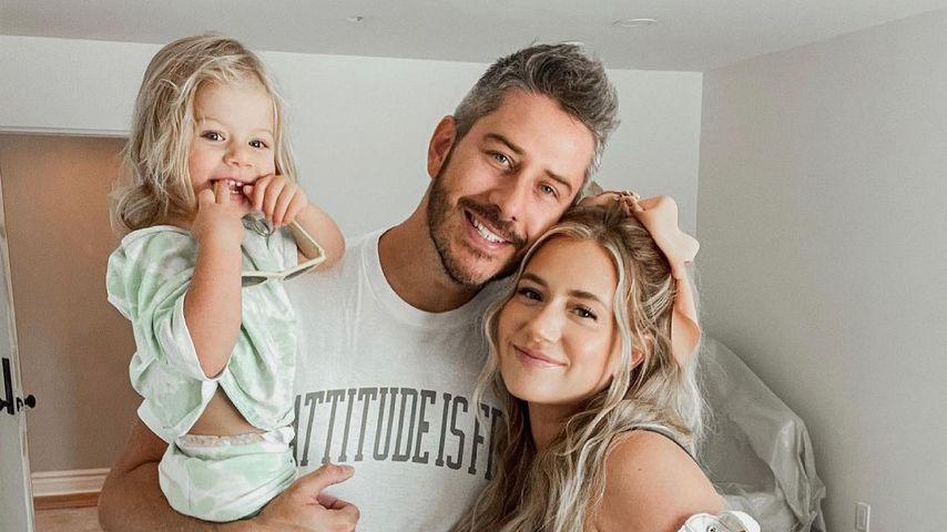 Arie Luyendyk, Jr. und Lauren Burnham mit Töchterchen Alessi