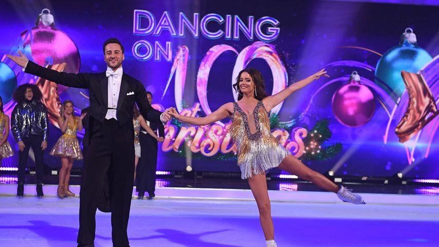 """Alexander Demetriou und Maura Higgins bei """"Dancing on Ice"""""""