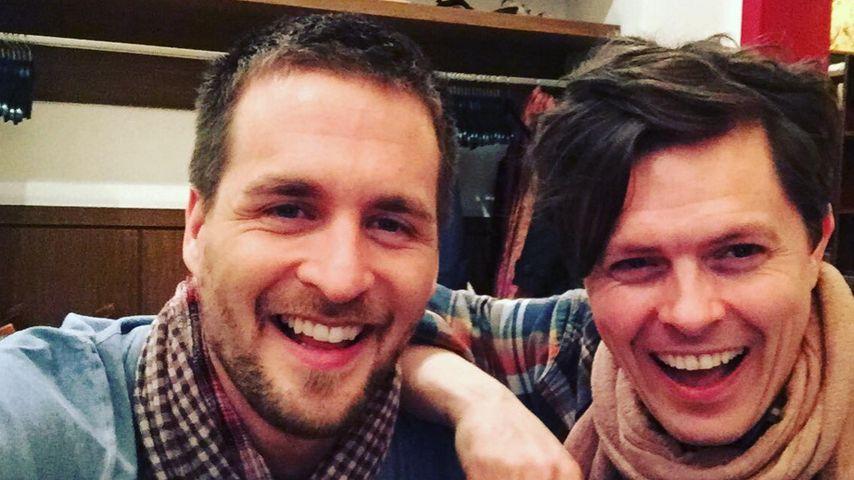 Konzert-Kumpel: Alex Klaws & Paddy Kelly albern herum