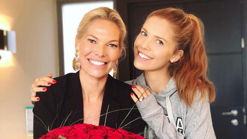 Riesen-Rosenstrauß: Vici Swarovski gratuliert Mama zum B-Day