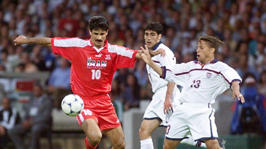 Ali Daei bei der Fußball-WM 1998