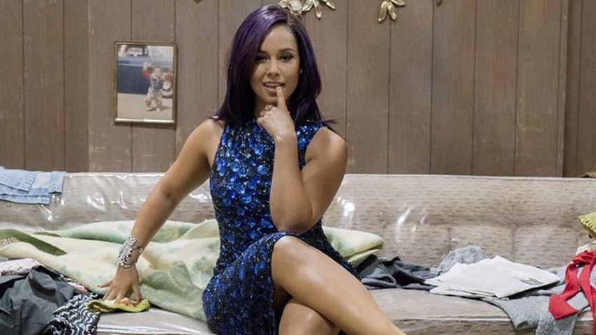 Total-Verwandlung für TV-Rolle: Alicia Keys hat lila Haare