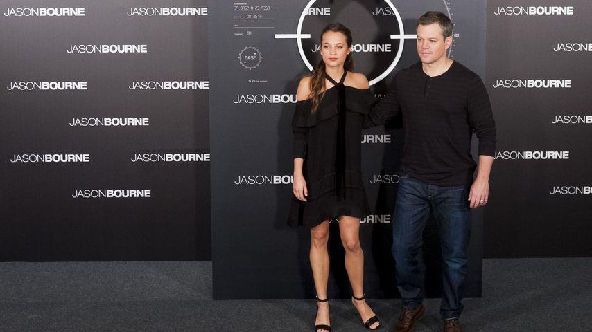Alicia Vikander und Matt Damon