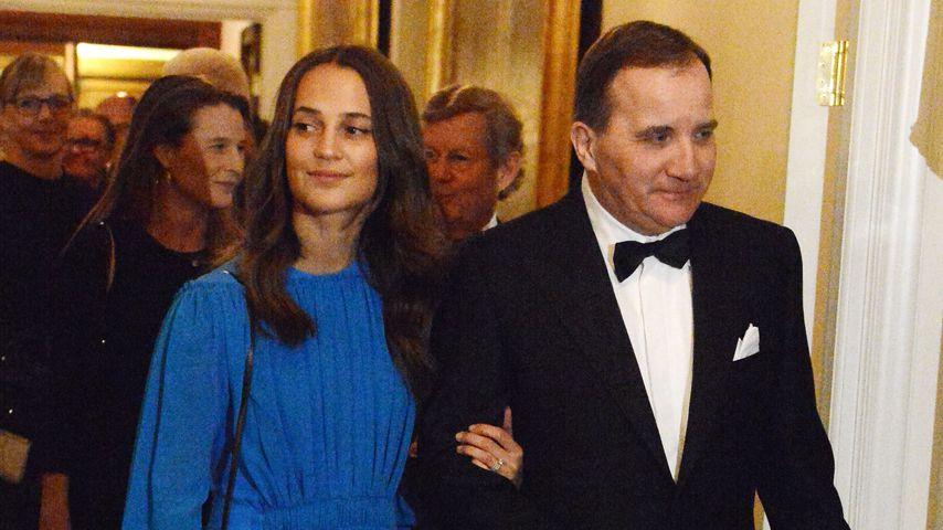 Alicia Vikander und der schwedische Ministerpräsident Stefan Loefven