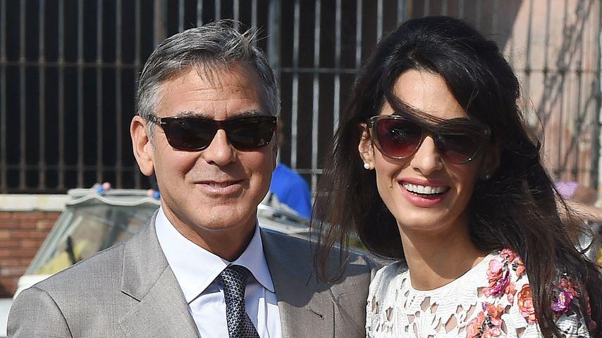 George und Amal Clooney bei ihrer Hochzeit 2014 in Venedig