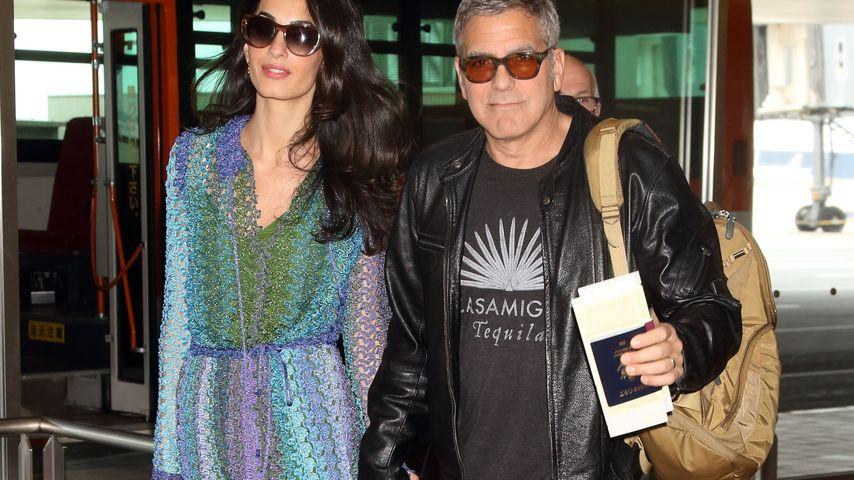 So verliebt! George Clooney & Amal halten Händchen