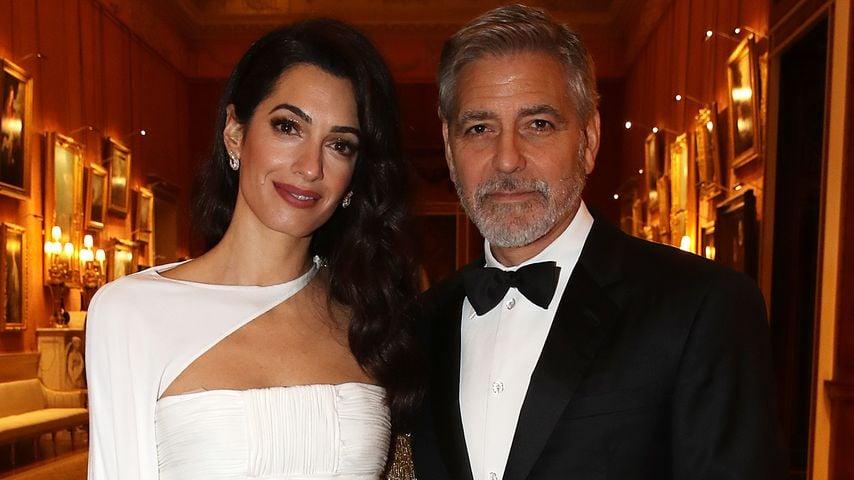 Amal und George Clooney im März 2019 im Buckingham Palace