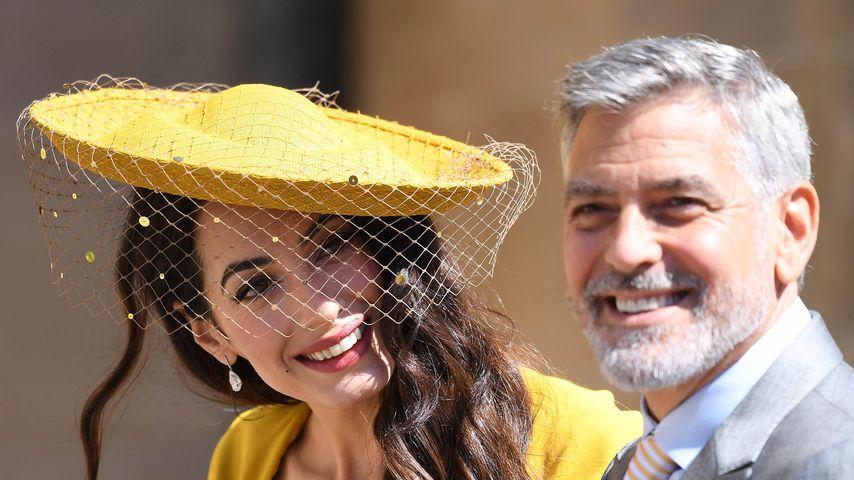 Amal und George Clooney bei Meghan und Harrys Hochzeit, Mai 2018