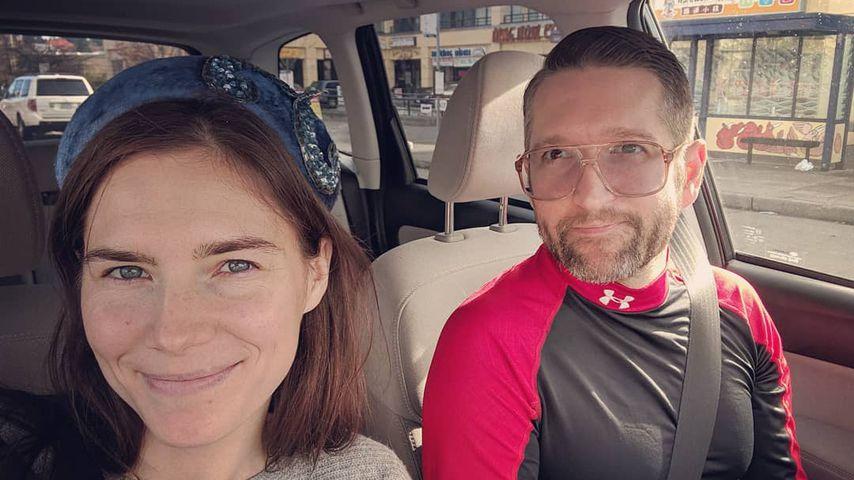 Amanda Knox und Christopher Robinson