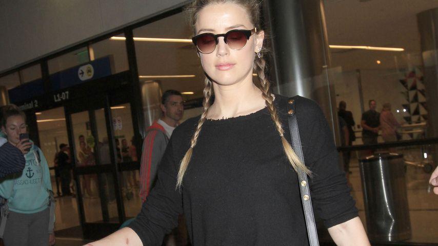 Amber Heard am Flughafen von Los Angeles