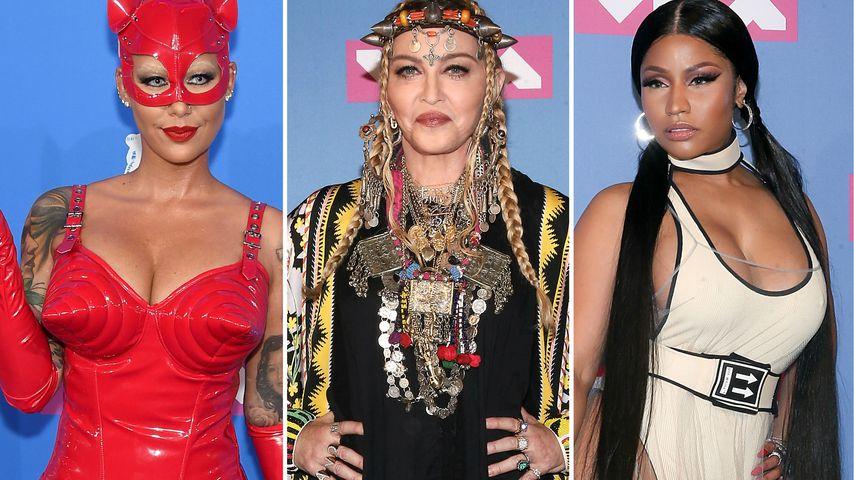 Bunt, nackt & skurril! Die wildesten Looks der VMAs 2018