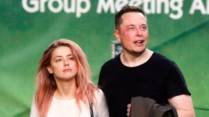 Amber Heard und Elon Musk im April 2017