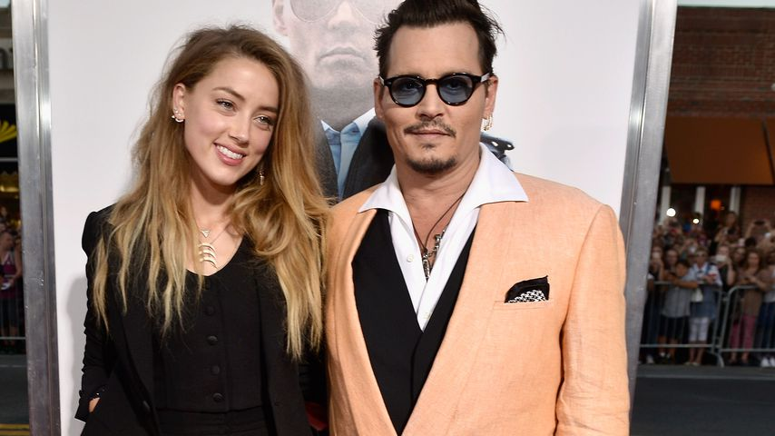 Amber Heard und Johnny Depp in Boston, 2015
