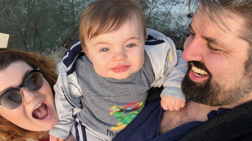 Amber Portwood und Andrew Glennon mit ihrem Sohn James