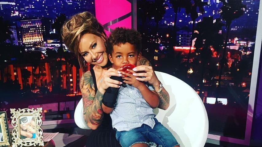Amber Rose und ihr Sohn Sebastian in Ambers Talkshow