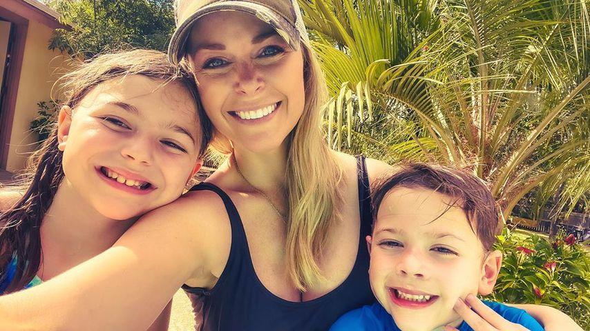 Amber Smith mit ihren Kindern London und Lincoln